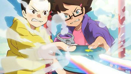 虹色に輝くファッショナブルファスナー
